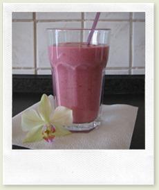 Himbeeren-Joghurt-Shake